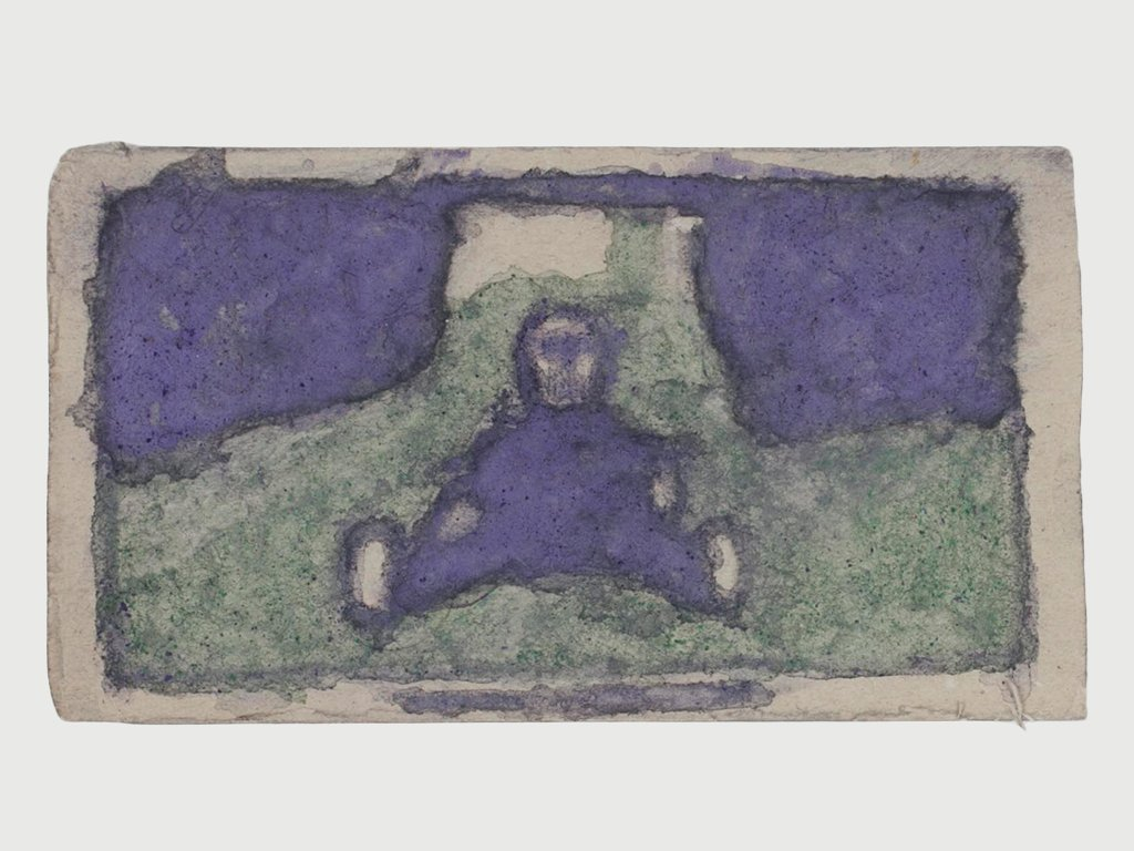 James Castle Image of Child in Purple