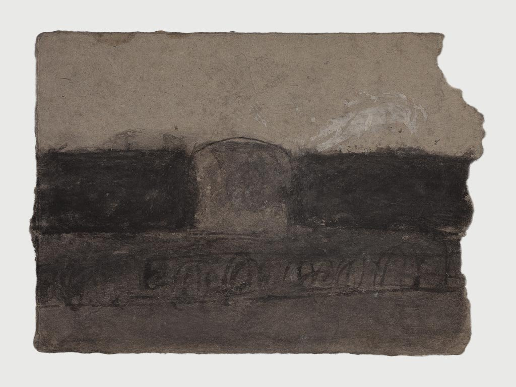 James Castle Fragment of a Soot Drawing