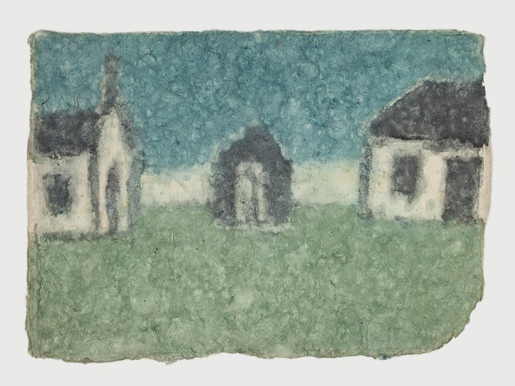 James Castle Colored Picture of Homes